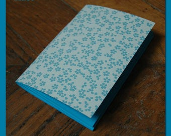 portátiles / Bloc de notas para las pequeñas flores azules