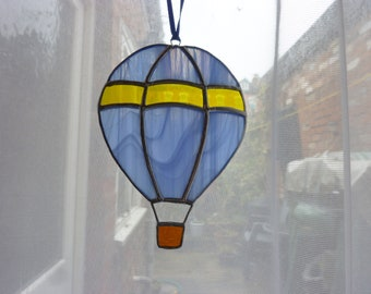 Stained glass hot air balloon  suncatcher.