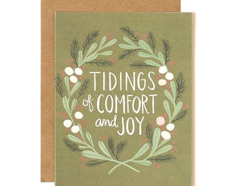 Tidings of Comfort and Joy Illustrated Card//1canoe2