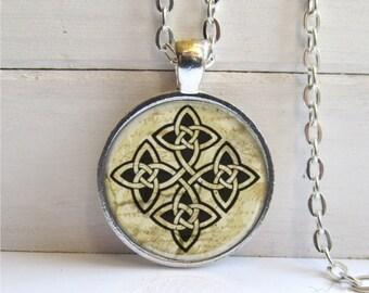 Celtic Necklace, Celtic Cross Pendant, Celtic Jewelry