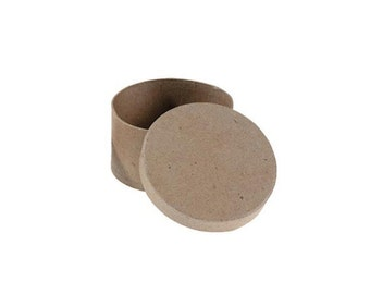 Round Paper Mache Cardboard Box - 4 Inch - Craft Gift Wrap Packaging Party Supplies