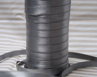Ribbon 10 mm gray satin, different colors