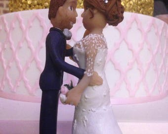 Cake topper personalized polymer clay