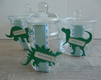 Labels for jar - Dino Party Theme