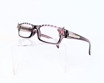 Reading glasses with Pink Butterfly, +2.75