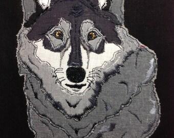 Raw Edge Applique 'Wolf'