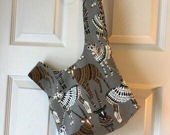 Animal print knot bag