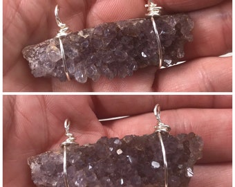 Amethyst Geode Chunk Pendant