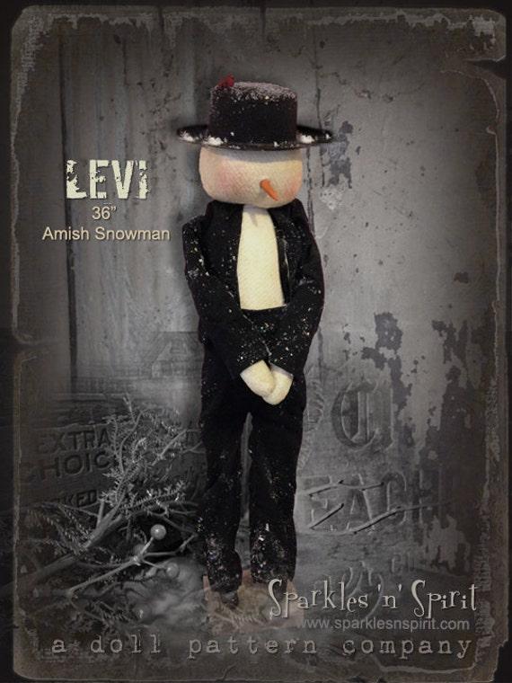 "Pattern: Levi - 36"" Amish Snowman"