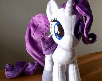 My Little Pony Rarity Handmade custom plush plushie
