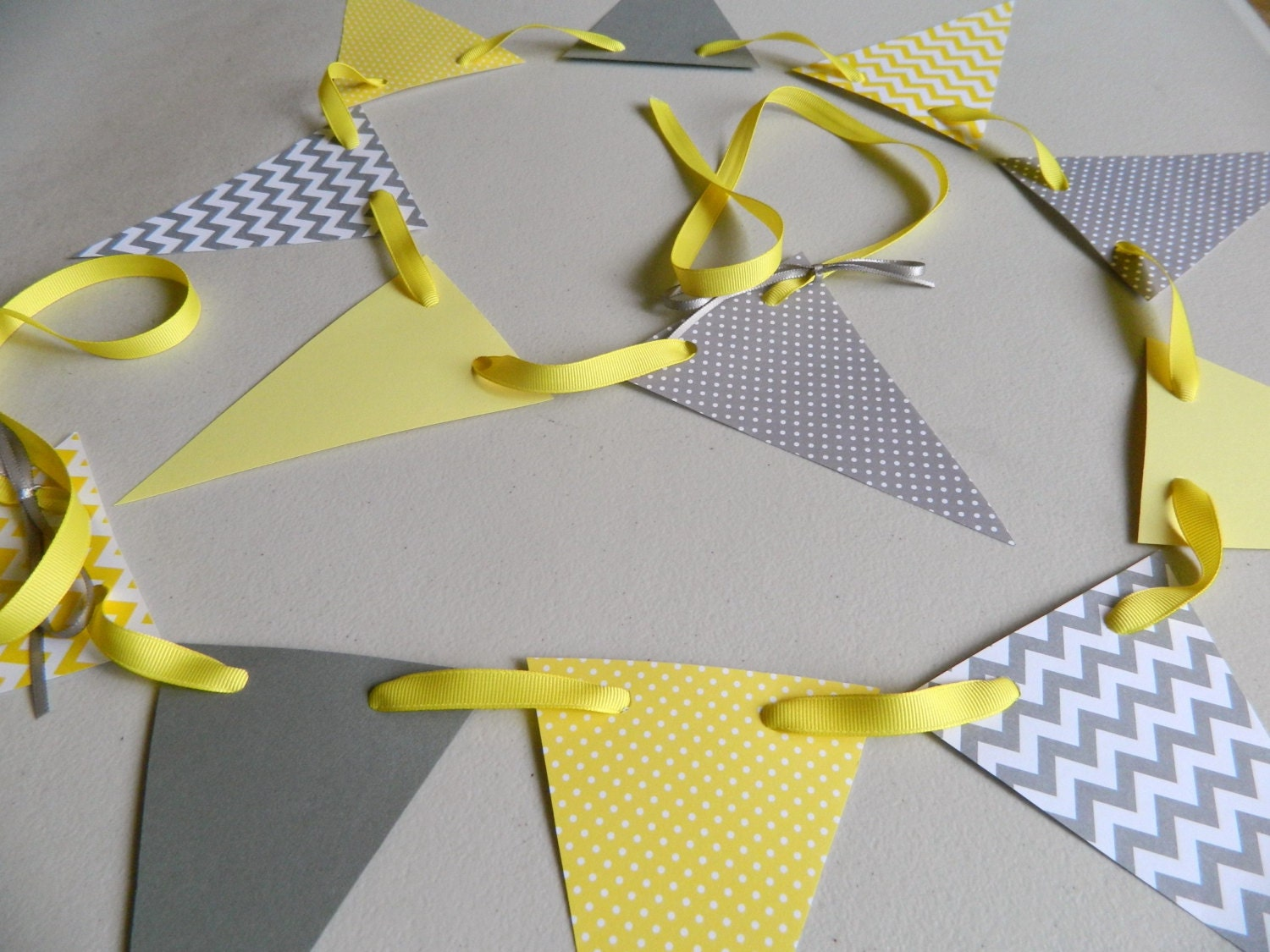 Yellow and Gray Baby shower decorations Yellow and Gray
