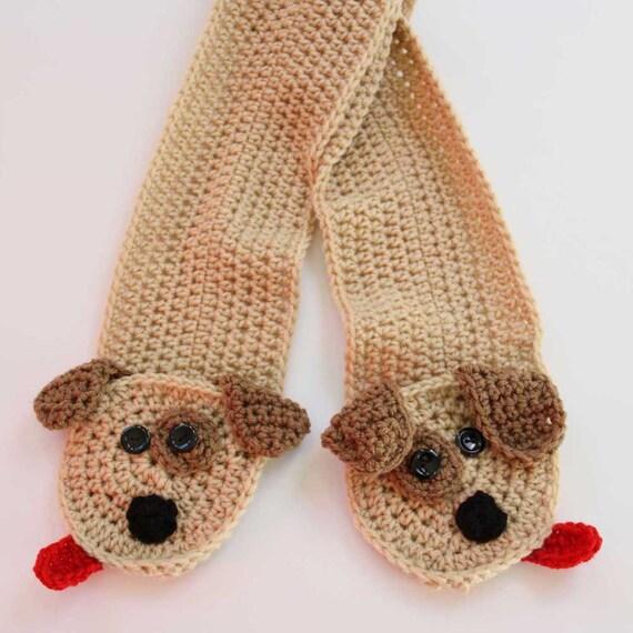 Puppy Pocket Crochet Scarf Pattern PDF