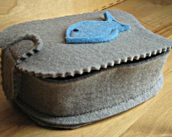 game FISH fabric box-handmade
