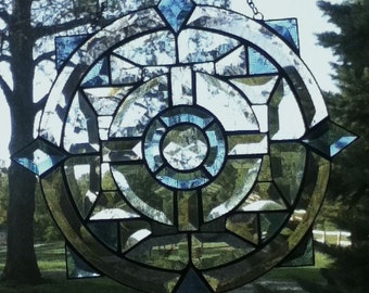 Beveled Stained Glass Celtic Circle Panel