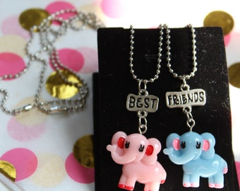 Best Friend elephant necklace set