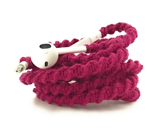 Wrapped Headphones for iPhone, Handmade iPhone Headphones, Design Earbuds, Custom Headphones, iPhone EarPods Tangle Free Earbuds in GEMMA