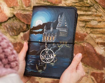 Hogwarts Castle - Harry Potter Gift - Hogwarts Express - Harry Potter Journal - Gryffindor - Harry Potter Art - Midori TN