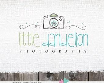 Photography Logo - Premade Logo for Photographer Swirl Camera & Dandelion Logo Design Photography Watermark Design plus circular file