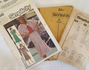 Simplicity 7510 ~  Misses Dress Gored Skirt Pattern ~ Size: 10 12 14 ~ 1980 s  ~ Vintage Pattern ~ Uncut Sewing Pattern ~ GRTLPAT