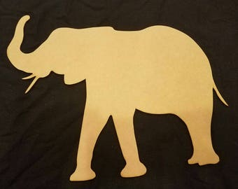 Elephant, Pachyderm Wood Cutout, Laser Cut, Zoo Animal Shaped, DIY Unfinished, Crafters, Paint Your Own by Liahona Laser on Etsy