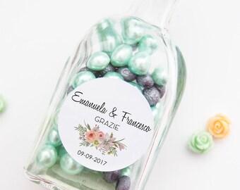Gift Wedding, custom stickers, Chiudibusta adhesive labels, wedding Sticker