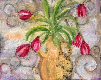 Floral - Music of Tulips -10x12 and 20x24 Print of Original