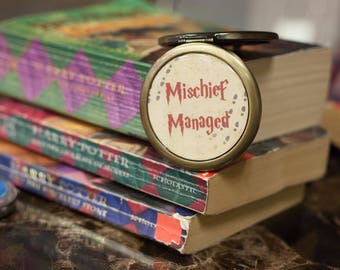 Mischief Managed / Harry Potter Inspired Compact Mirror