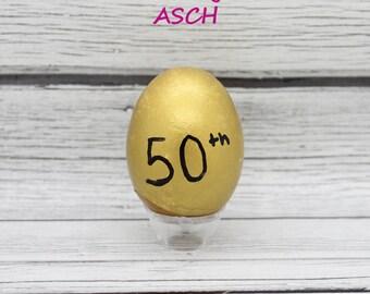 50th Golden Anniversary Confetti eggs dozen Mexican Cascarones, anniversary decor, gold anniversary, party favors, party decorations, decor
