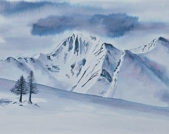 """Handmade art card """"Winter Landscape"""""""