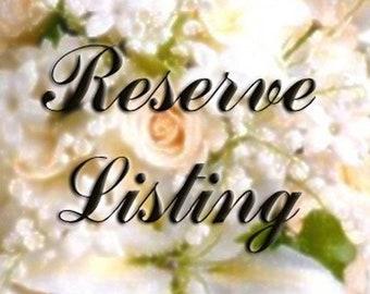 Reserved Listing for Patricia Lemonds