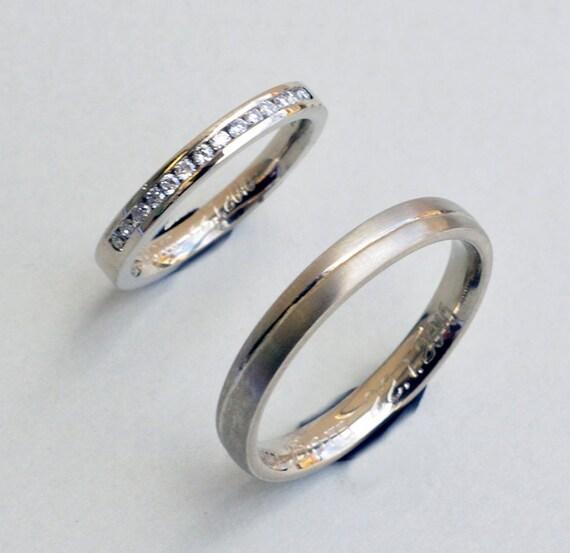 Diamond Wedding band Chanel set Diamond Wedding Band Set