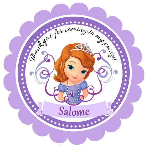 Printable sofia the first favor tags sofia the first thank solutioingenieria Images