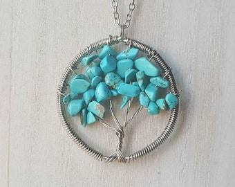 Dyed Howlite Tree of Life