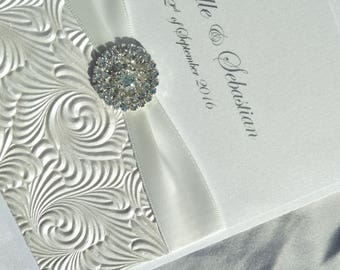 Wedding Invitation - Lucette - White