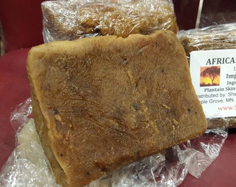 African Raw Black Soap  1/2 lb.
