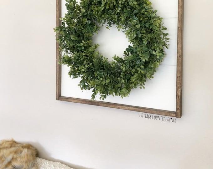 24 x 24 Large Shiplap sign with wreath - Shiplap sign - Shiplap decor - Shiplap Art - Farmhouse Decor - Home Decor