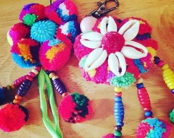 Pompom key chain (Thais style)
