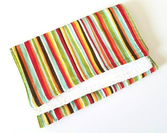 Striped Burp Cloth with Terry Cloth Backing