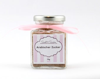 Arab sugar 75 g - a touch of Orient, sugar to the desserts - refine of coffee, pastries, ideal as a gift for him and her