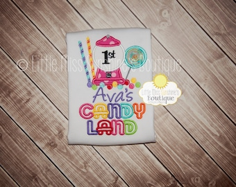 Candy Land Birthday Shirt, Candy Land Shirt, Candy Land First Birthday, Candy Shirt