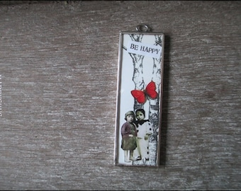 soldered Charm with nostalgic picture