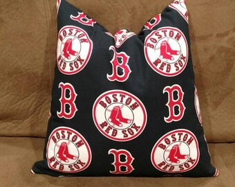 Boston Red Sox Decorative Throw Pillow, BoSox Decor, Boston Red Sox Baseball Decor, Boston Red Sox Gifts, Boston Red Sox Pillow, Baseball