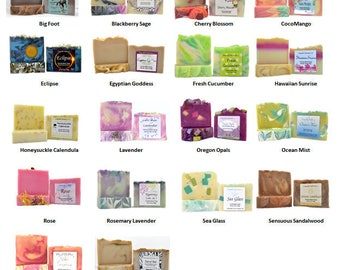 5 Bars of SOAP | YOUR CHOICE | Handcrafted Soap | Artisan Soap | Handmade Soap | Hostess Gifts | Soap Gift Sets