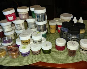 Large Lot of Embossing Powder
