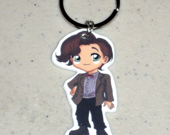 The 11th Doctor - Doctor Who Keychain, Necklace, Earrings, Charm, Stickers, Tattoos, Embroidered Patch, Magnets