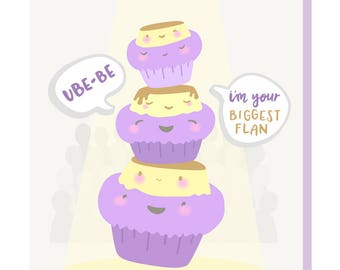 Ube Leche Flan Love Card