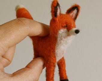 Needlefelted Fox // Wool // Woodland Ornament