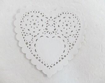 "5"" paper heart doilies (50 sheets)"
