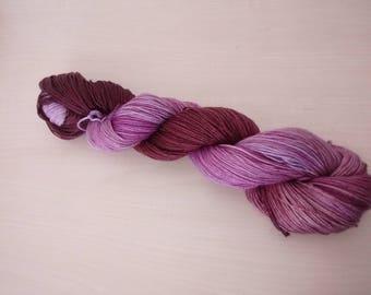 Hand-dyed wool Merino Peony