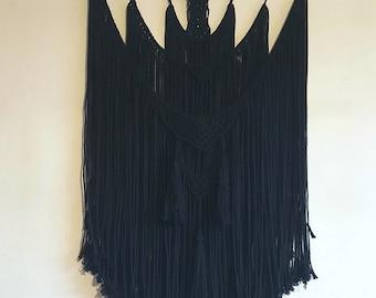 Black macrame